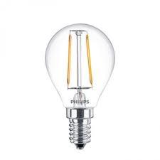 Philips Classic Filament heldere kogellamp 2-25W E14