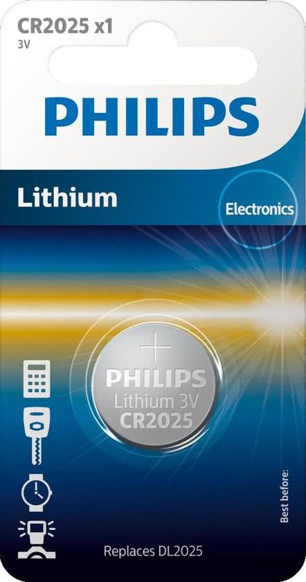Philips CR2025/01B - Minicells Lithium Batterij