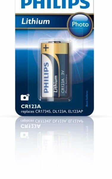 Philips CR123a Lithium batterij - 1 stuk