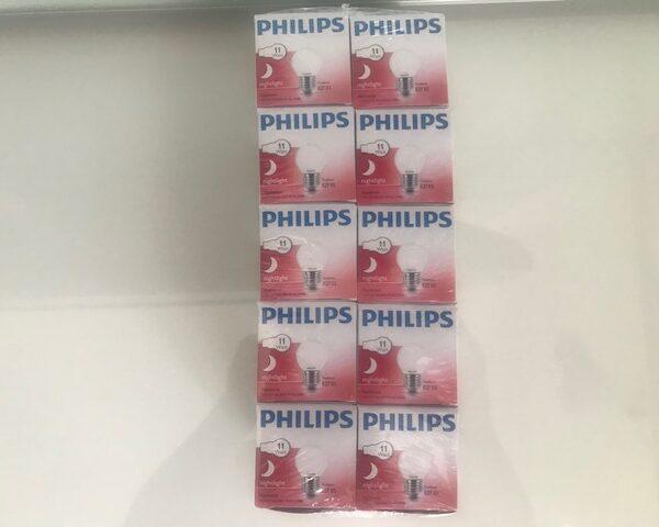 Philips gloeilamp Matte nachtlamp 11W E27 voordeelpack 10 Stuks
