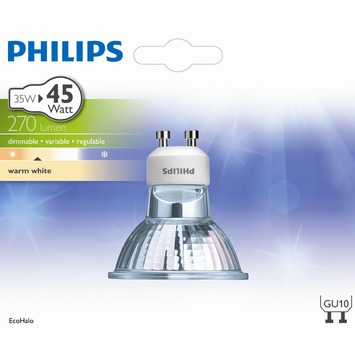 Philips halogeenlamp GU10 35W 270Lm reflector